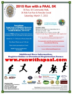 Run with a PAAL 5K Flyer